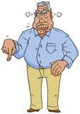 Homem irritado da saliência Fotografia de Stock Royalty Free