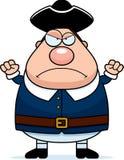 Homem irritado do Colonial dos desenhos animados Fotos de Stock Royalty Free