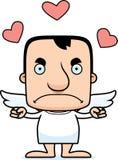 Homem irritado do cupido dos desenhos animados Fotografia de Stock Royalty Free