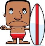 Homem irritado do surfista dos desenhos animados Foto de Stock Royalty Free
