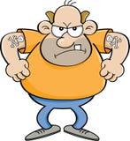 Homem irritado dos desenhos animados Fotos de Stock