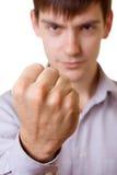 Homem irritado novo Foto de Stock Royalty Free