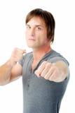 Homem irritado pronto para lutar Imagem de Stock Royalty Free