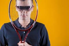 Homem, jogador de tênis Imagem de Stock
