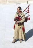 Homem jordano que joga gaitas de fole Foto de Stock