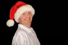 Homem jovial do Natal imagem de stock royalty free