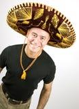 Homem Latin com um Sombrero Fotos de Stock Royalty Free