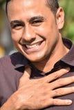Homem latino-americano e esperança foto de stock royalty free