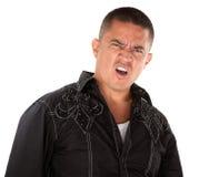 Homem latino-americano irritado fotos de stock