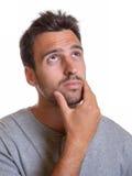 Homem latino sob a pressão Foto de Stock Royalty Free