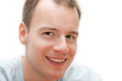 Homem louro de sorriso Foto de Stock Royalty Free