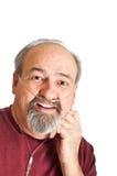 Homem maduro com inabilidade de respiração Fotos de Stock Royalty Free