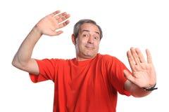 Homem maduro engraçado Foto de Stock