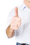 Homem maduro que gesticula o sinal aprovado Imagem de Stock