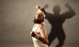 Homem magro com sombra musculous Imagem de Stock Royalty Free