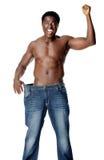 Homem magro dos weighloss Imagem de Stock