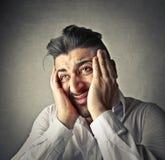 Homem mal-humorado triste Fotos de Stock