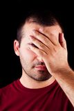 Homem masculino Embarrassed Imagem de Stock Royalty Free