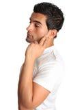 Homem melancólico de pensamento Fotografia de Stock