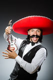 Homem mexicano com guitarra Imagem de Stock