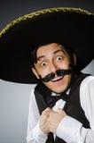 Homem mexicano em engraçado fotos de stock