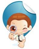 Homem minúsculo (busca) Imagem de Stock Royalty Free
