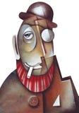 Homem misterioso, indivíduo da máfia ou polícia secreta Imagens de Stock