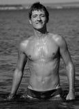 Homem molhado na água Imagem de Stock Royalty Free