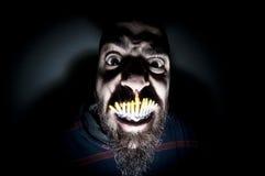 Homem monstruoso com dentes longos Fotografia de Stock