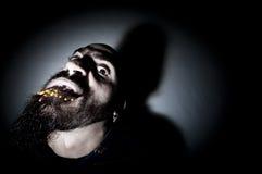 Homem monstruoso com dentes longos Foto de Stock