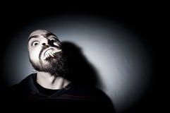 Homem monstruoso com dentes longos Imagem de Stock
