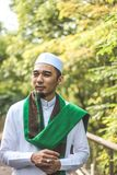 Homem muçulmano de sorriso Fotos de Stock Royalty Free