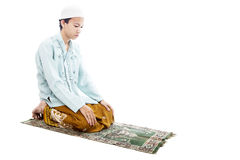 Homem muçulmano Devotional em praying fotos de stock royalty free