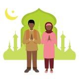 Homem muçulmano e mulher que comemoram a ramadã Fotografia de Stock