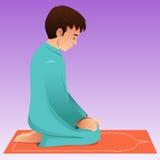 Homem muçulmano que Praying Fotografia de Stock