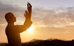 Homem muçulmano que Praying Imagem de Stock Royalty Free