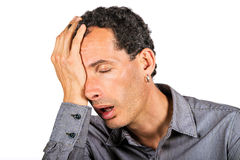 Homem muito cansado Fotografia de Stock Royalty Free