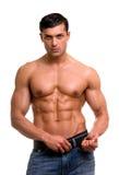Homem muscular. Imagem de Stock