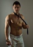 Homem muscular atrativo Fotografia de Stock Royalty Free