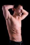 Homem muscular atrativo dos esportes Imagem de Stock