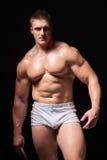 Homem muscular no roupa interior Imagens de Stock Royalty Free