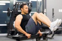 Homem muscular que elabora Imagem de Stock Royalty Free