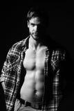 Homem muscular sexual imagem de stock