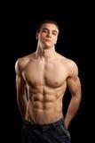 Homem muscular 'sexy' fotografia de stock royalty free