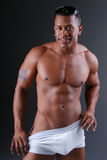 Homem muscular 'sexy'. Fotos de Stock Royalty Free