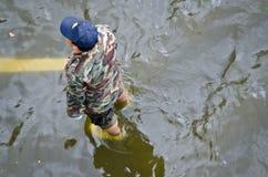 Homem na água Imagem de Stock