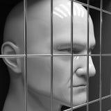 Homem na cadeia Foto de Stock Royalty Free
