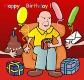 Homem na cadeira ilustração royalty free