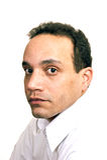 Homem na camisa branca Foto de Stock