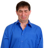 Homem na camisa de vestido azul 6 Fotos de Stock Royalty Free